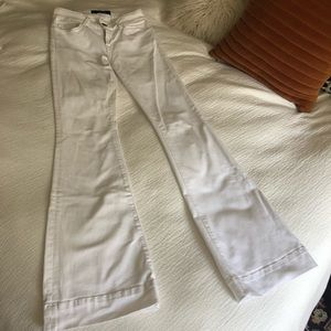 J Brand white flare jeans / bell bottoms